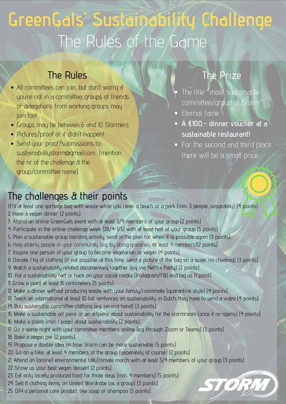 Greengals' Sustainability Challenge - Updated