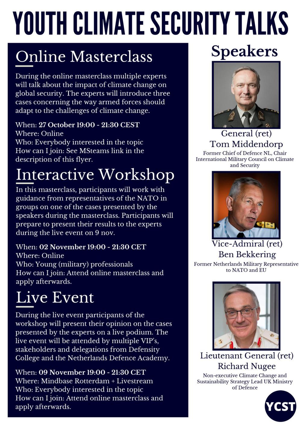 Online Masterclass: Impact of Climate Change on Global Security